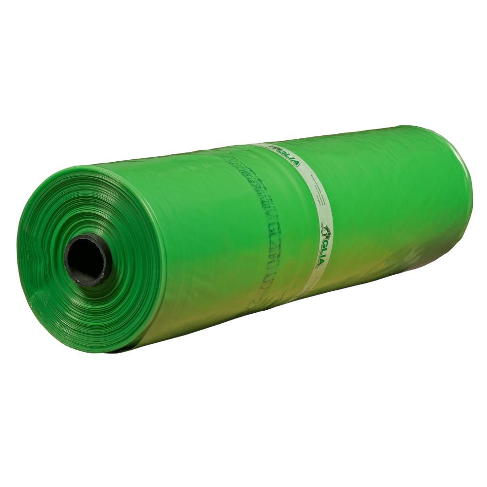 Folie polietilena Glia UV, PE natur, verde, 0.15 mm grosime, rezistenta UV 36 luni, 12.20 m latime mathaus 2021