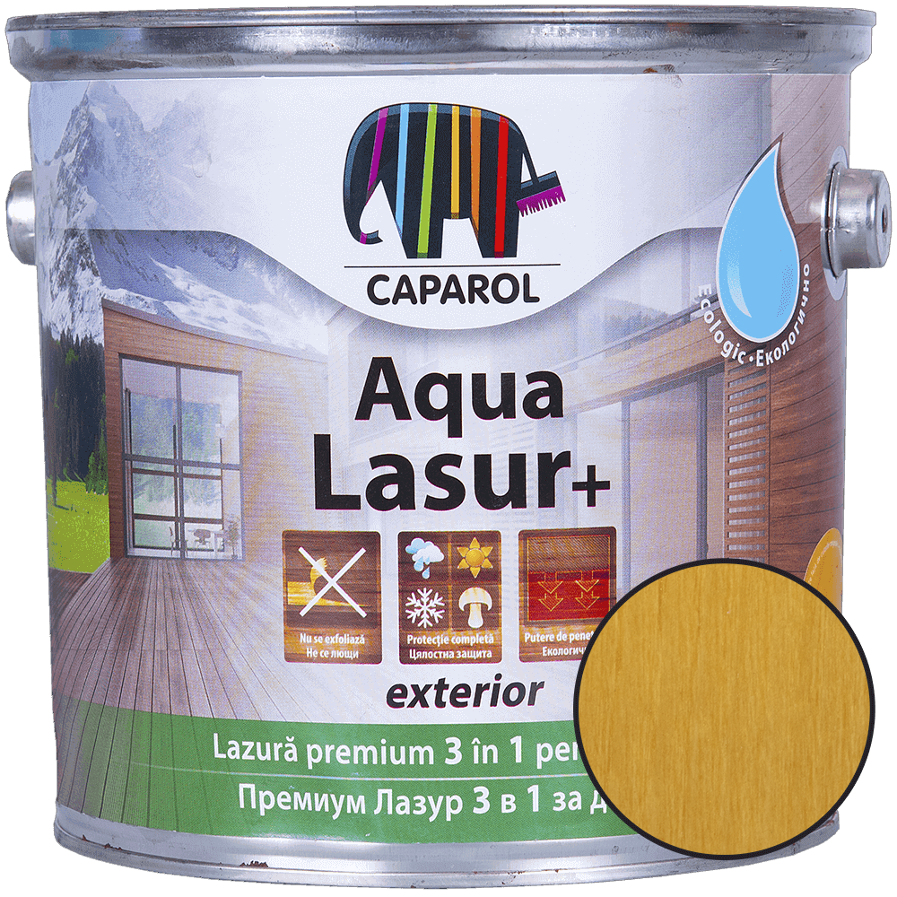 Lazura pentru lemn de exterior Caparol Aqua Lasur +, pin, 2.5 l imagine 2021 mathaus