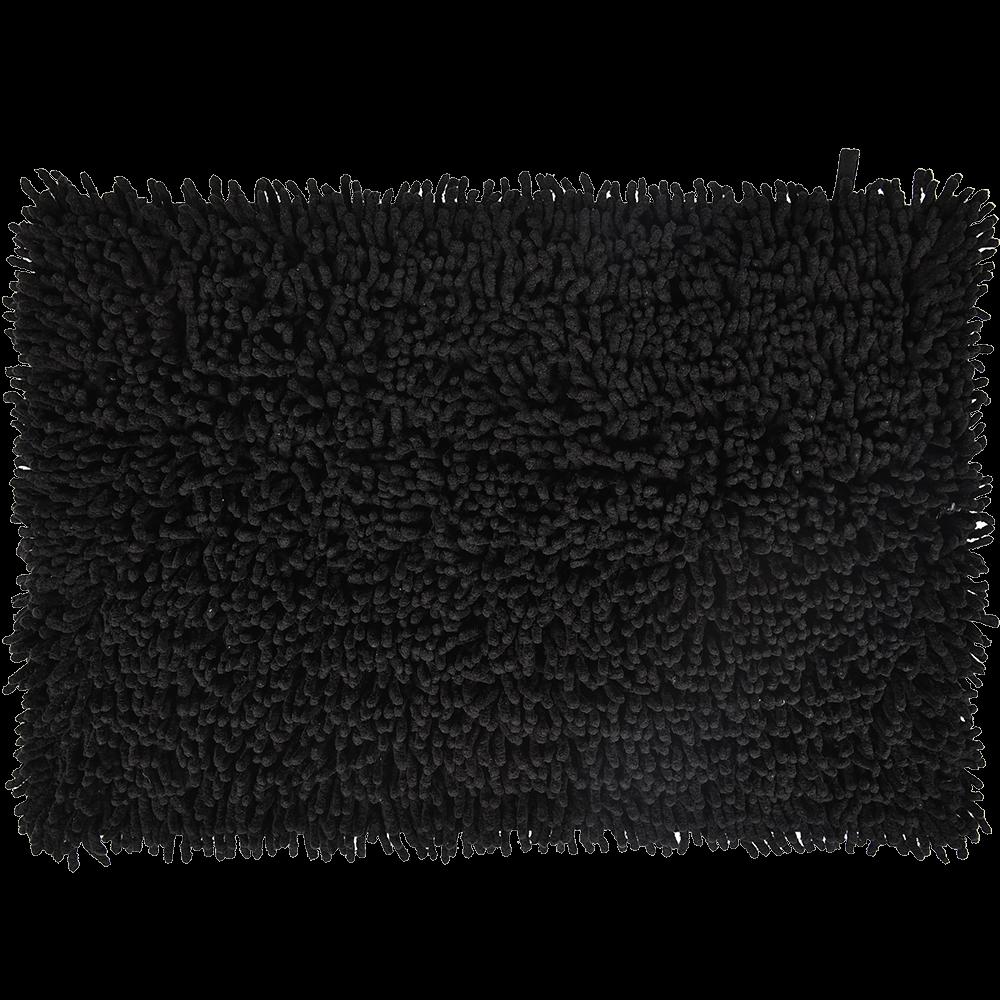 Covoras baie, bumbac 100%, negru, 60 x 40 cm