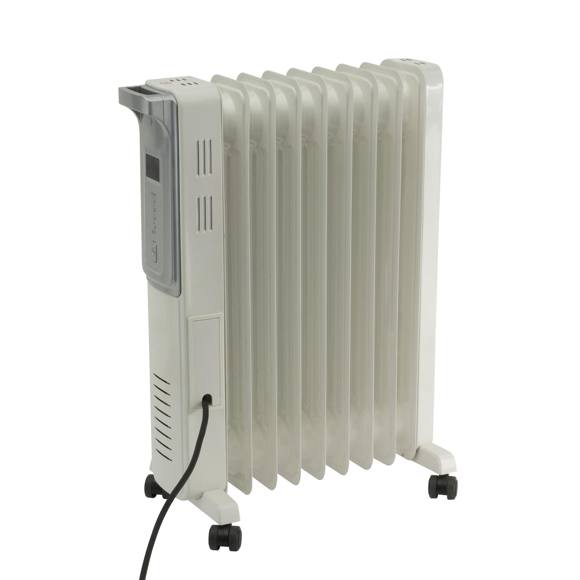 Calorifer electric cu ulei Home by somogyi FKO 9 LCD, 2 panouri convectoare, 2000W, aluminiu, alb, 63 x 44 cm imagine 2021 mathaus