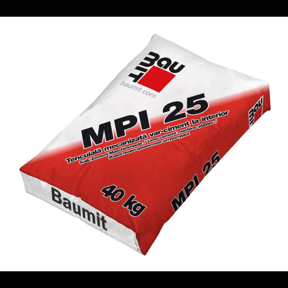 Tencuiala aplicare manuala / mecanizata Baumit MPI 25, interior, 40 kg mathaus 2021