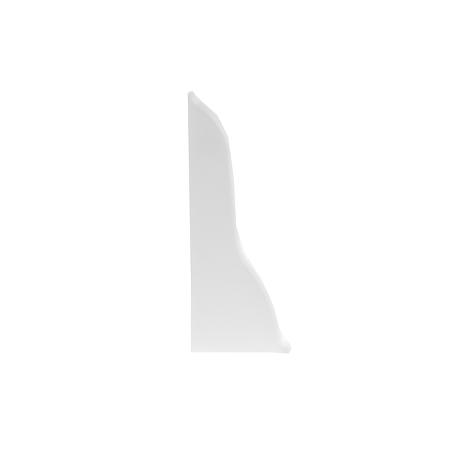 Set terminatii stanga+dreapta pentru plinta parchet, alb