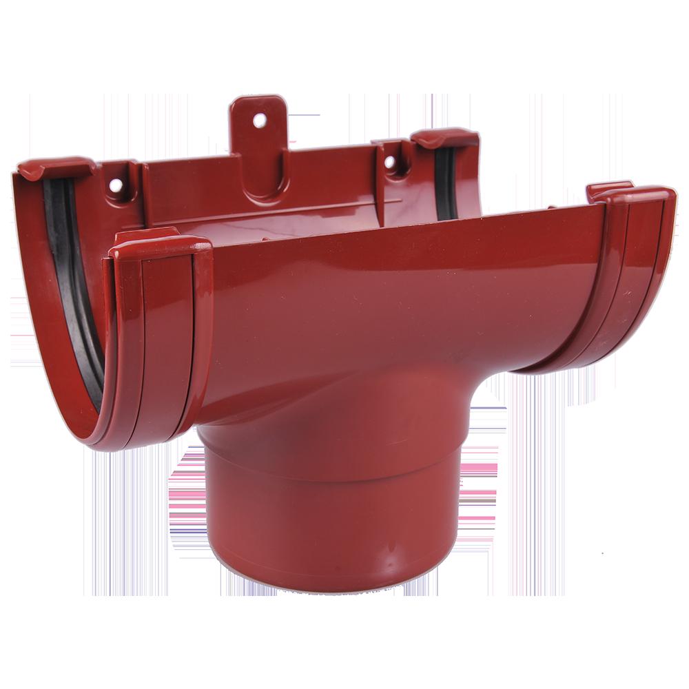 Racord jgheab – burlan, PVC, Regenau, 125/100 mm, rosu RAL 3011 imagine 2021 mathaus