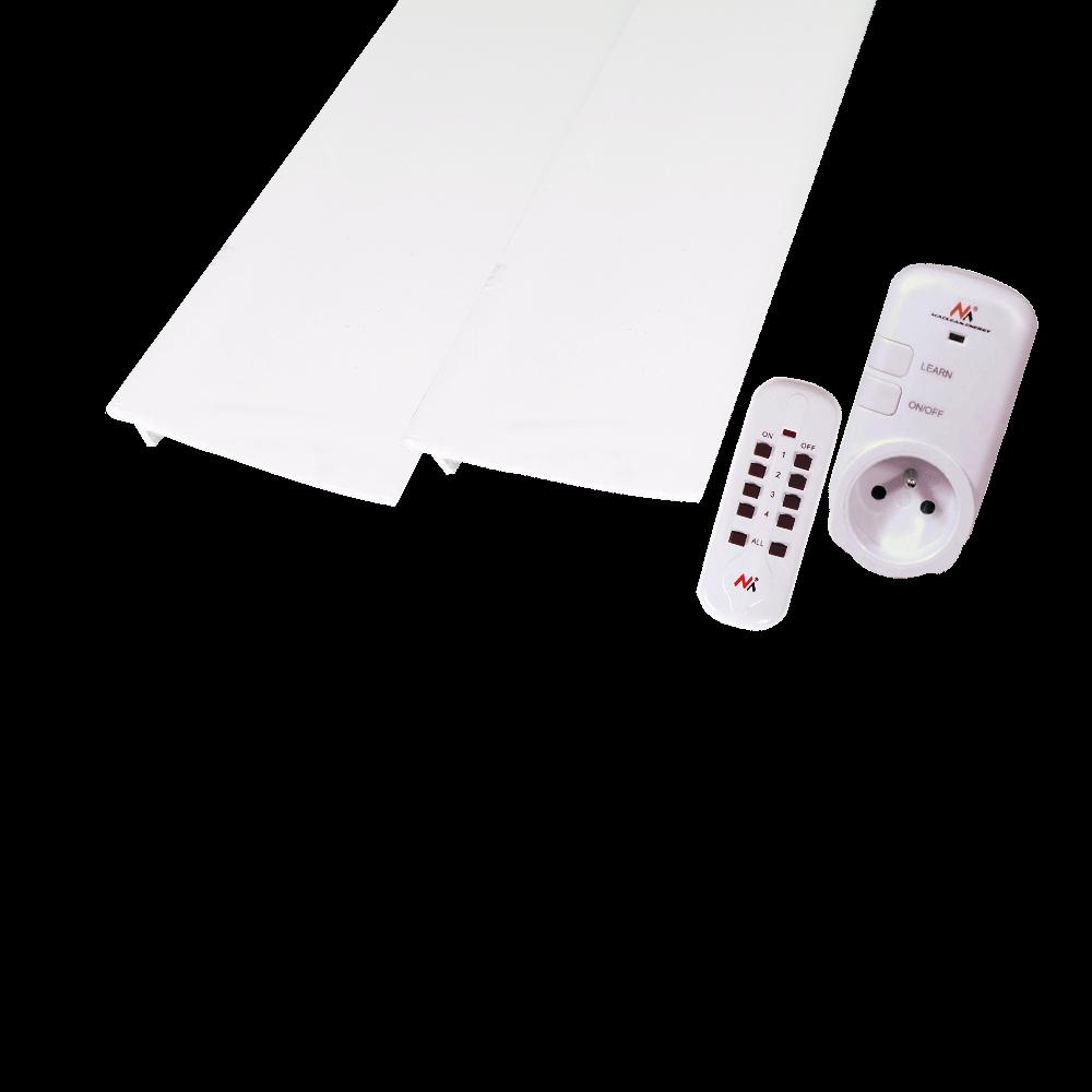 Sistem de iluminat cu bagheta decorativa LED Vidella, 1 banda, 2 x 2 m + 1 m + LED 5 m, lumina rece