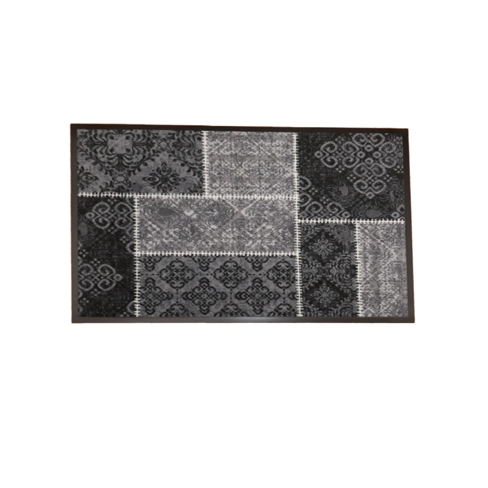 Stergator intrare Oriental Patch 50, model baroque, poliamida pe suport cauciuc, 50 x 75 cm
