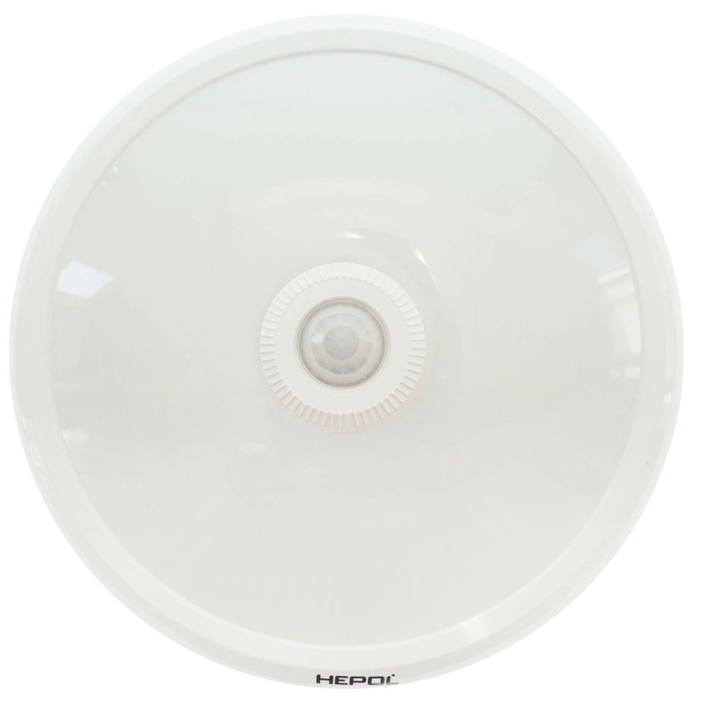 Aplica rotunda cu senzor Hepol, 1 x LED, max 12 W, IP40, alb mathaus 2021