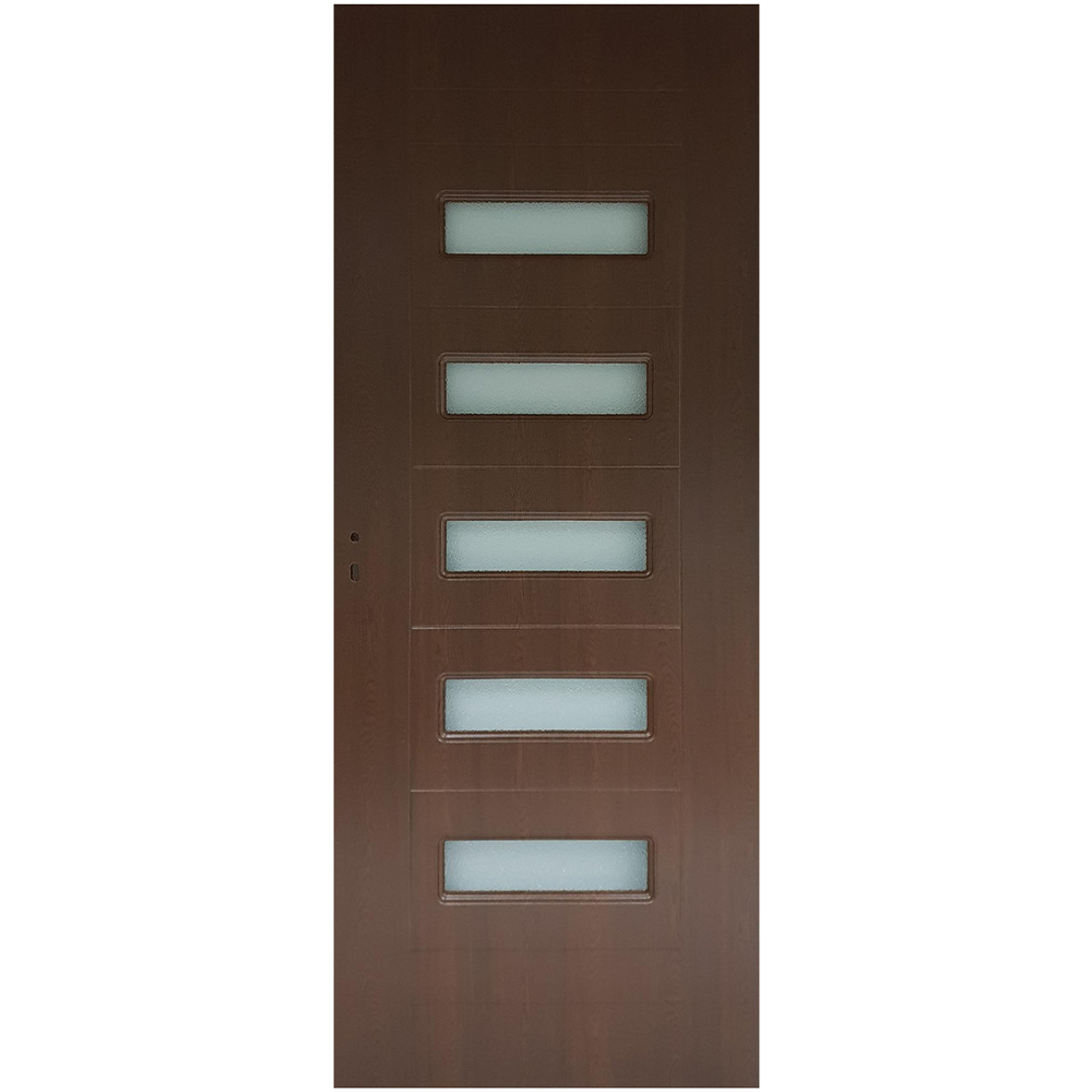 Usa interior cu geam Pamate M104, stejar auriu, 203 x 80 x 3,5 cm + toc reglabil, reversibila