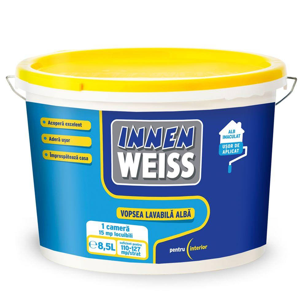 Vopsea lavabila interior, Innenweiss, 8,5 L, alba mathaus 2021
