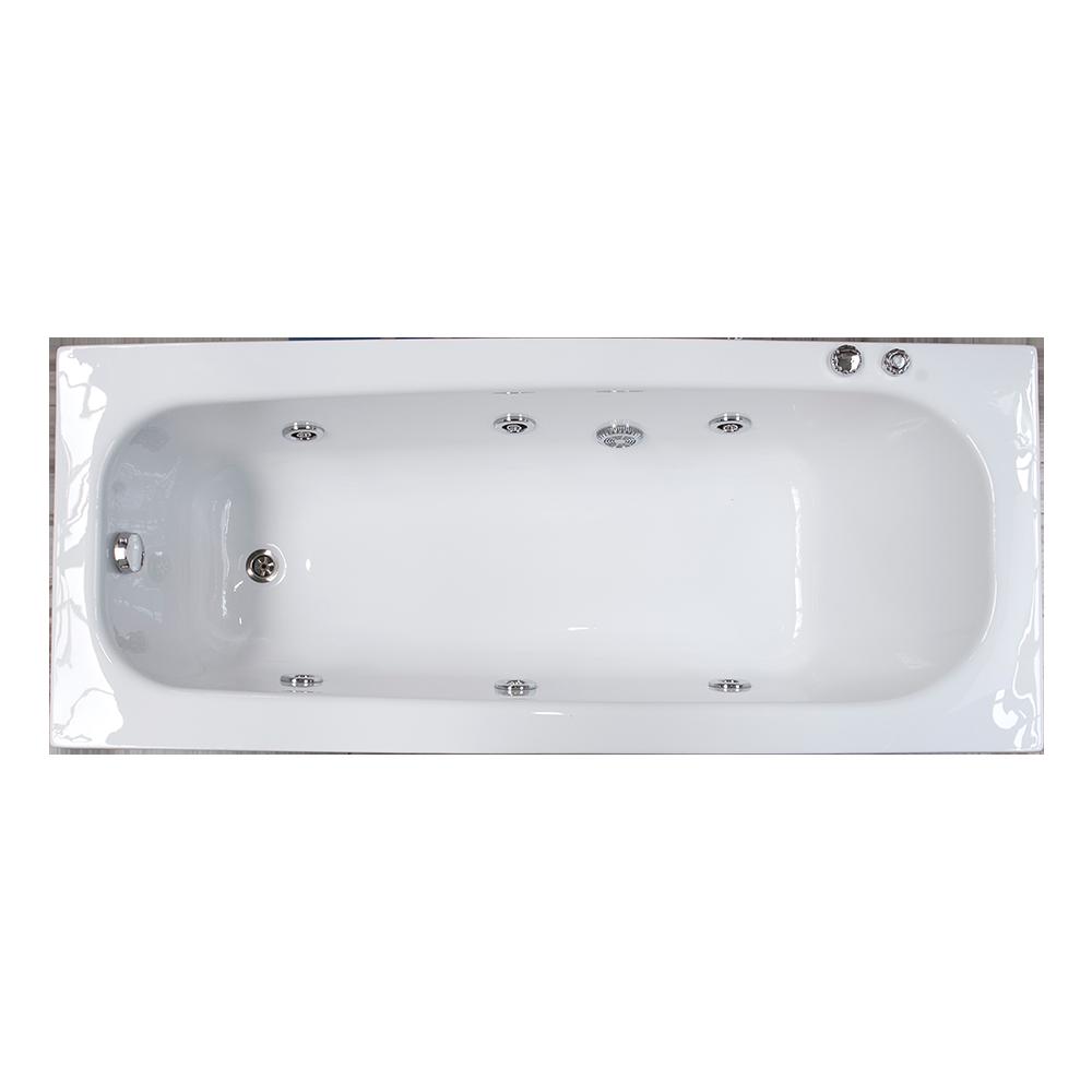 Cada de baie cu hidromasaj, Linea Sanotechnik, acril, 5 duze, alb, 170 x 70 x 44.5 cm mathaus 2021