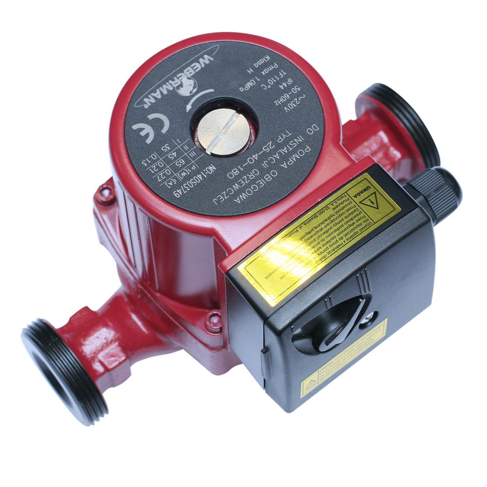 Pompa circulatie Ferro Weberman 25/40/180, 3 trepte, IP44, 0,2 - 3,5 mc/h imagine 2021 mathaus