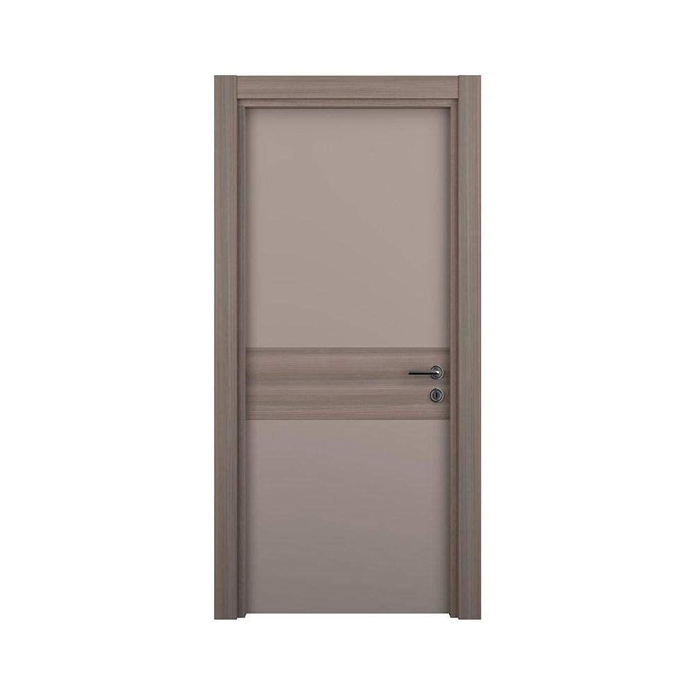 Usa interior plina, Variodor Mocca Ceramic Wood, maro, 198 x 70 cm, stanga