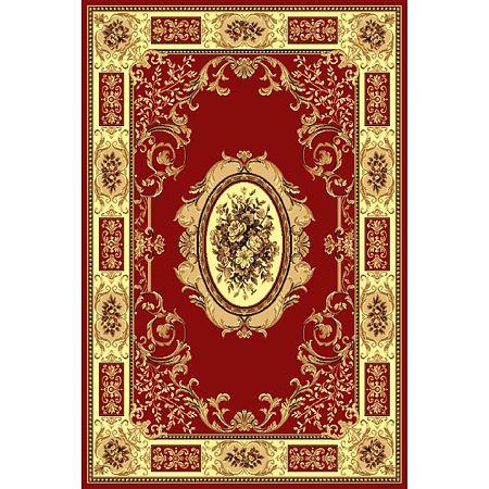 Covor clasic Gold 242/22, polipropilena BCF, rosu/bej, 80 x 150 cm