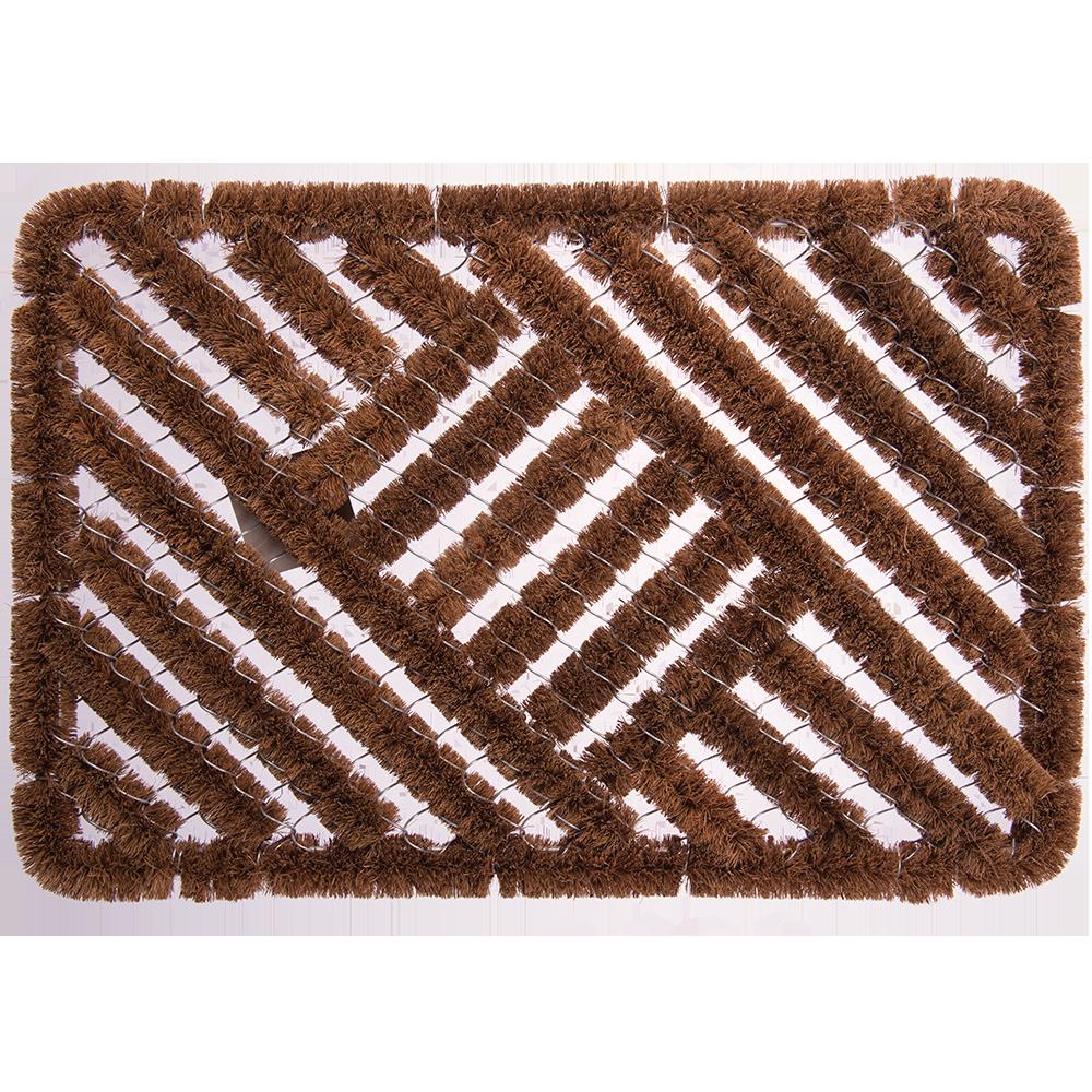 Stergator intrare Gratier, model cu cavitati, fibra de nuca de cocos, maro, 40 x 60 cm mathaus 2021