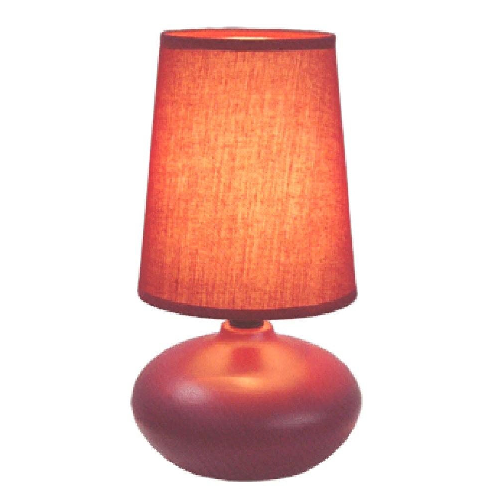 Veioza Oscar KL 0509, ceramica, rosie, 1 x E14, 40W, 226 mm imagine 2021 mathaus