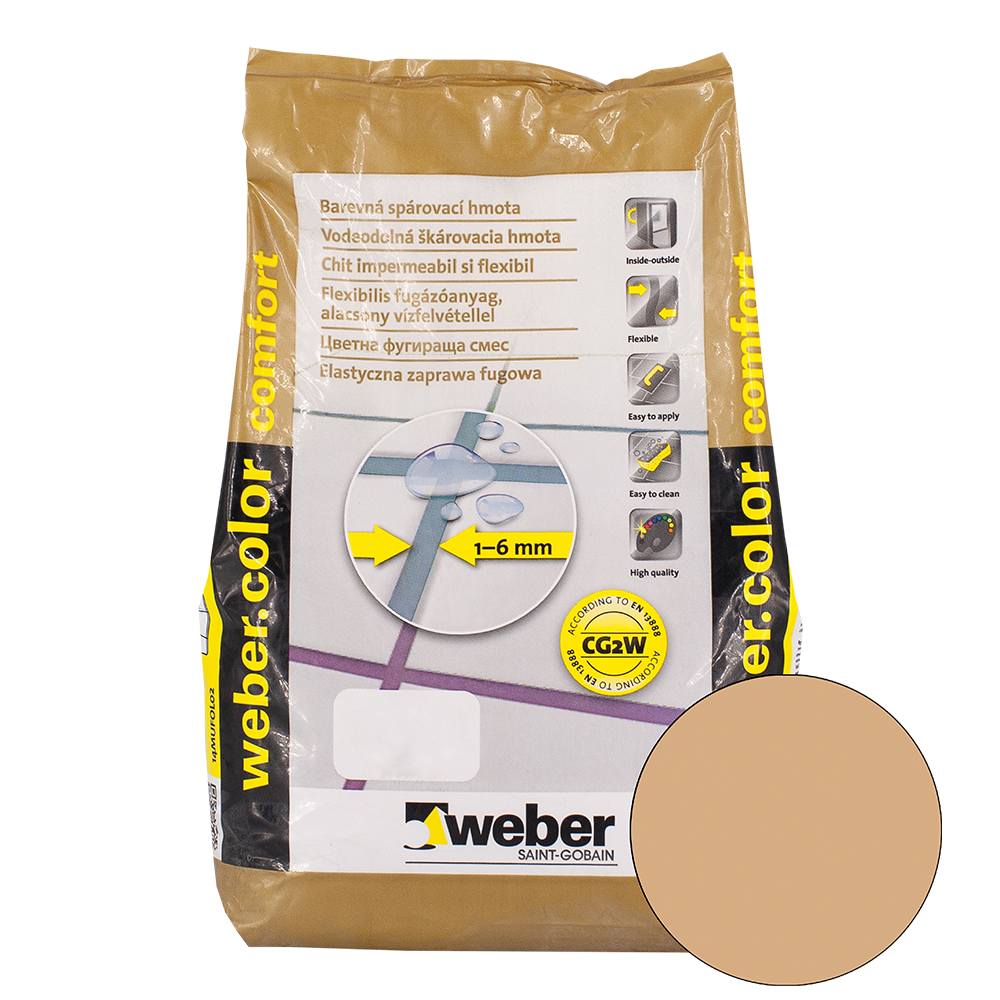 Chit de rosturi Weber Color Comfort, Toffee, 2 kg imagine 2021 mathaus