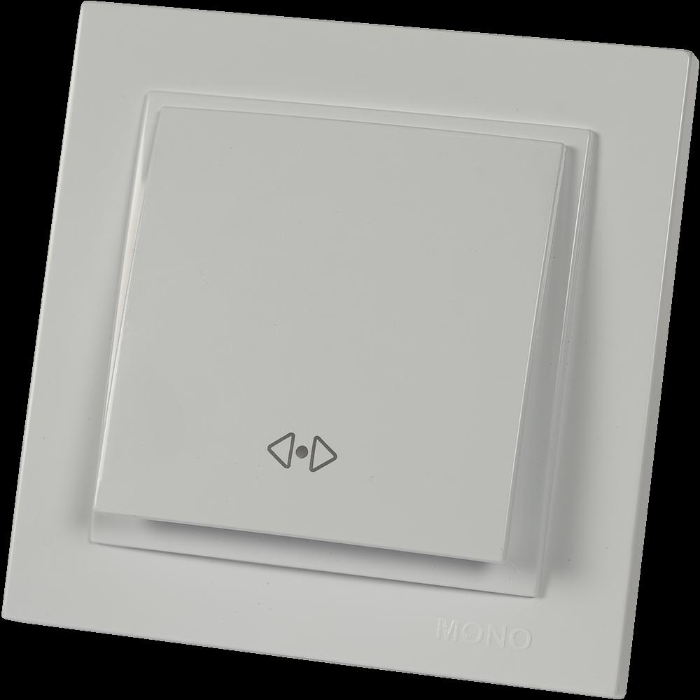 Intrerupator cap cruce Mono Electric, DESPINA, ingropat/ST, alb imagine MatHaus.ro