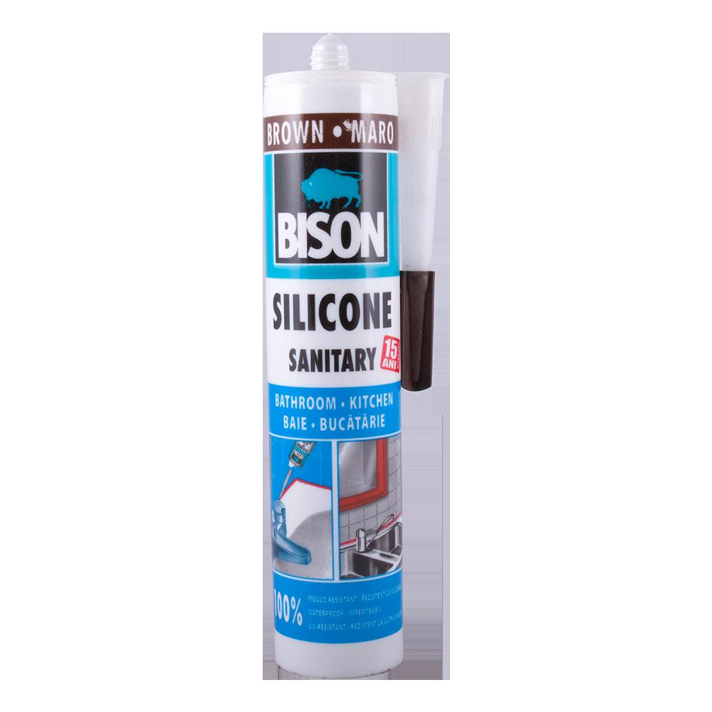 Silicon Sanitar Bison maro 280 ml imagine 2021 mathaus