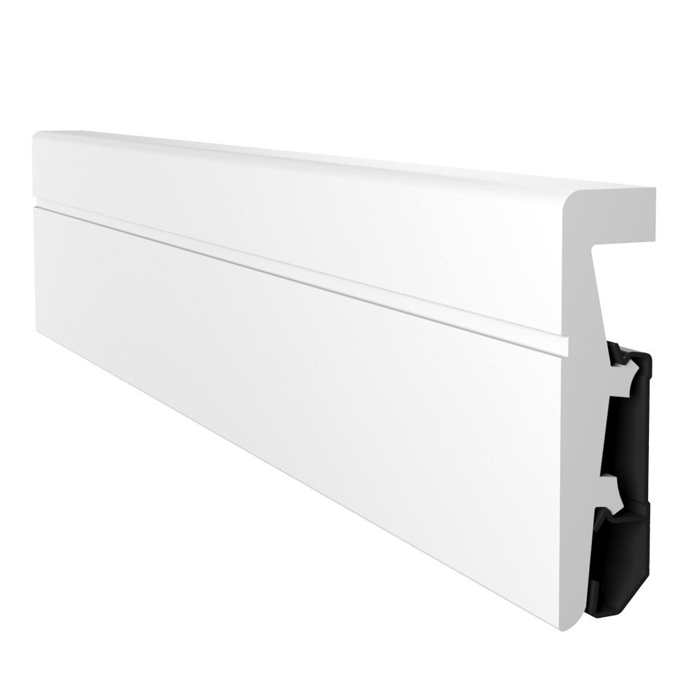 Plinta podea, duropolimer, alb, Vega P0811, 2400x80x20 mm imagine MatHaus