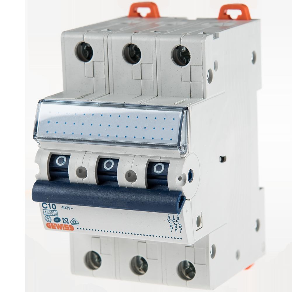 Intrerupator automat GW92166, 3P, 10A, Gewiss