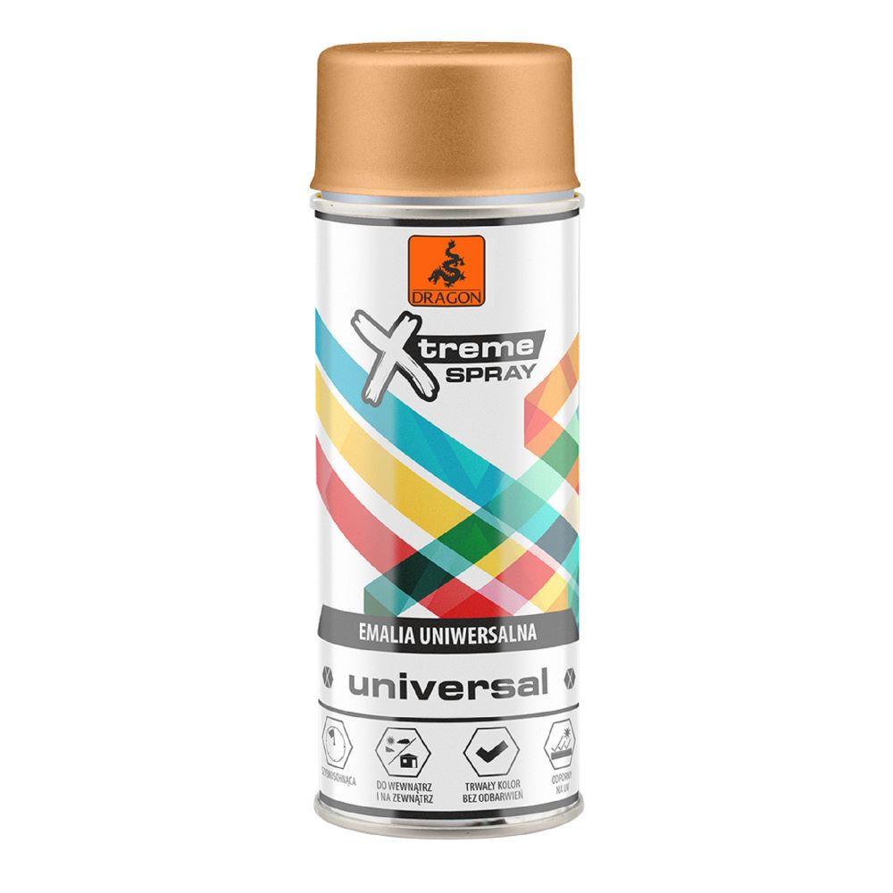 Vopsea spray universala X-Treme, auriu metalic, 400 ml imagine MatHaus