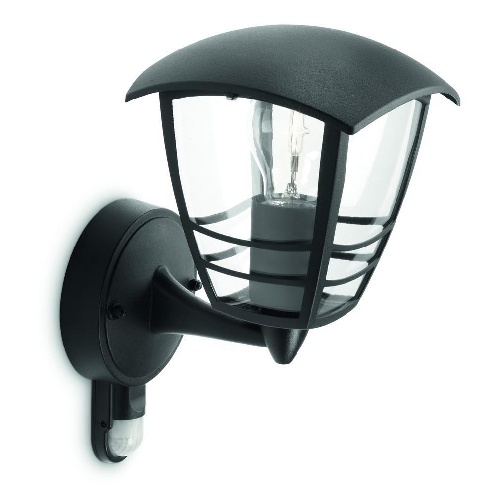 Aplica Creek Wall Lantern, neagra, 1x60W, 230V imagine MatHaus