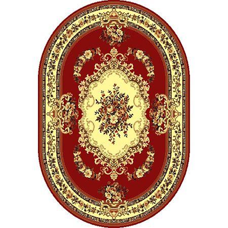 Covor clasic Gold 047/22 O, polipropilena BCF, rosu-bej, 50 x 80 cm