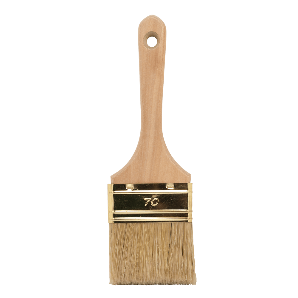 Pensula pentru vopsit seria 53, latime 70 mm, fir natural si maner din lemn