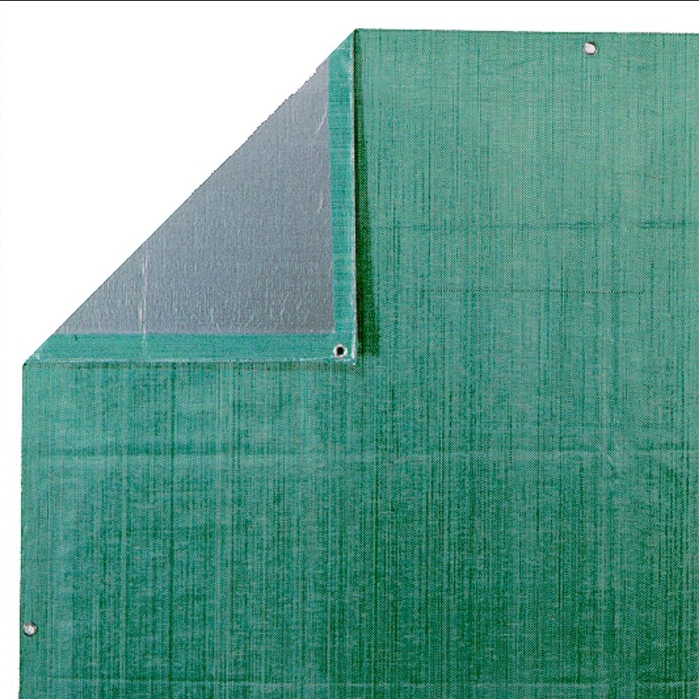 Prelata tesuta grea Guttaplane rezistenta UV, 4 x 6 m, verde/argintiu