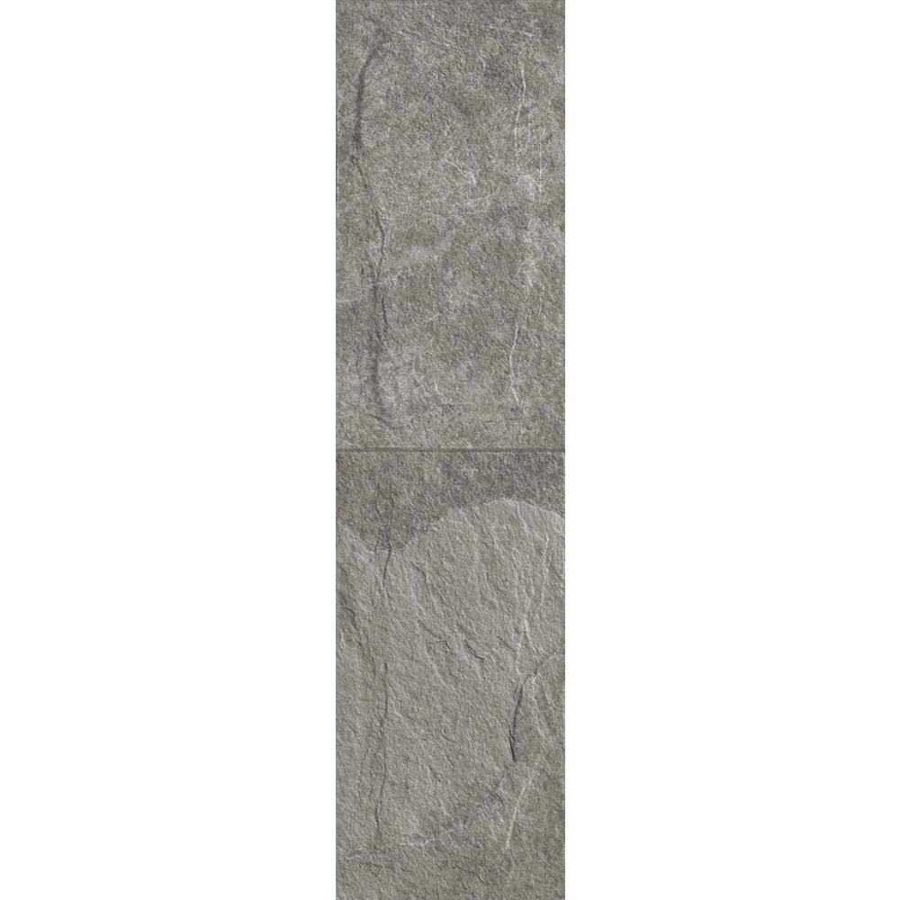 Gresie portelanata interior-exterior Kai Ceramics Samos, gri, aspect de piatra, finisaj rustic, 15,5 x 60,5 cm mathaus 2021