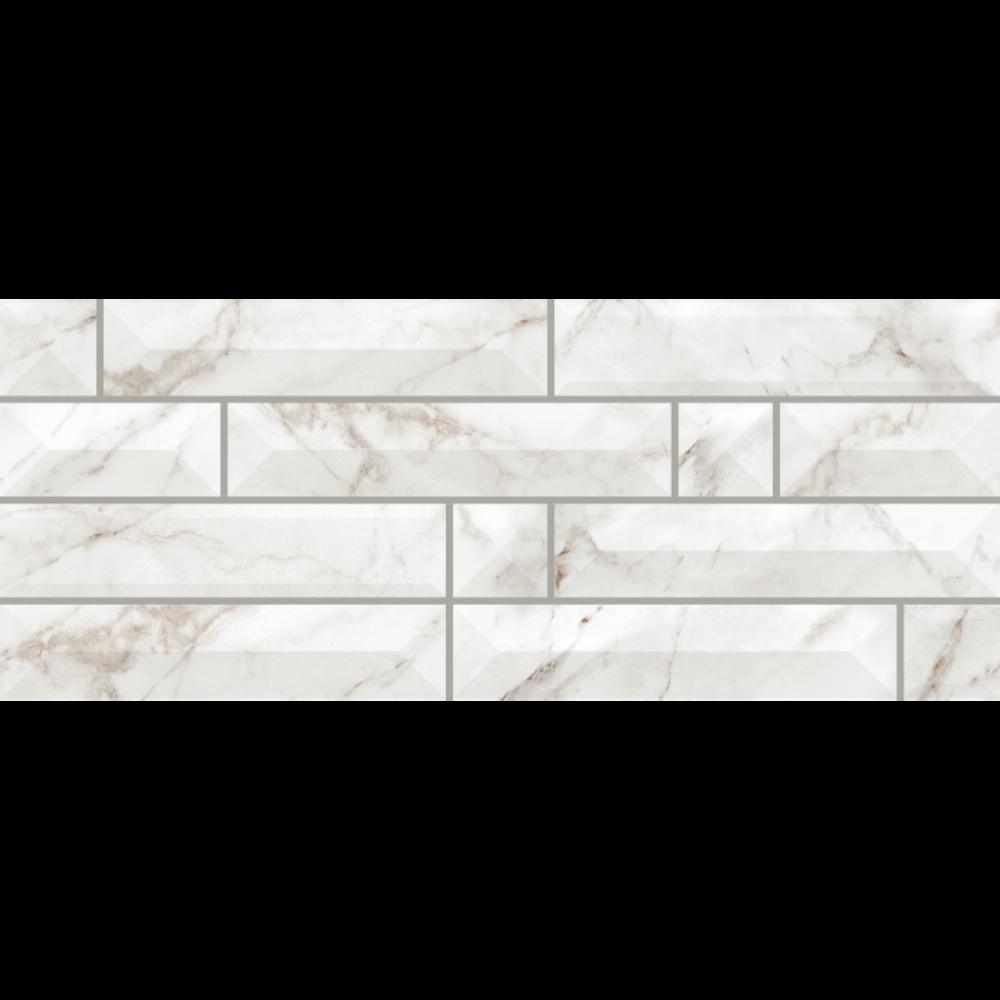 Faianta Atlantis 1, alb, aspect de piatra, lucioasa, 20 x 50 cm imagine 2021 mathaus