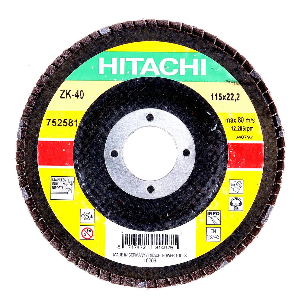 Disc lamelar pentru slefuit in inox si metal, Hikoki ZK 40, 115 mm, granulatie 40 mathaus 2021