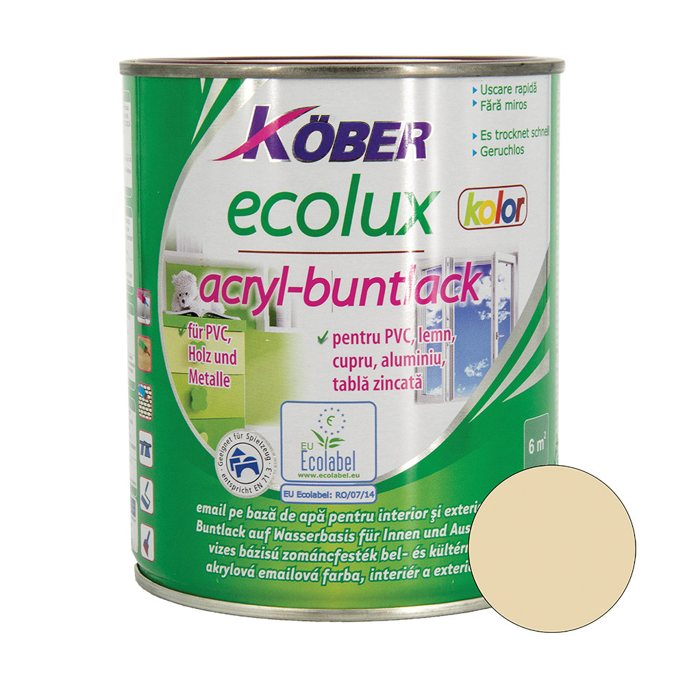 Email Ecolux Kolor bej 0,75 L imagine MatHaus.ro