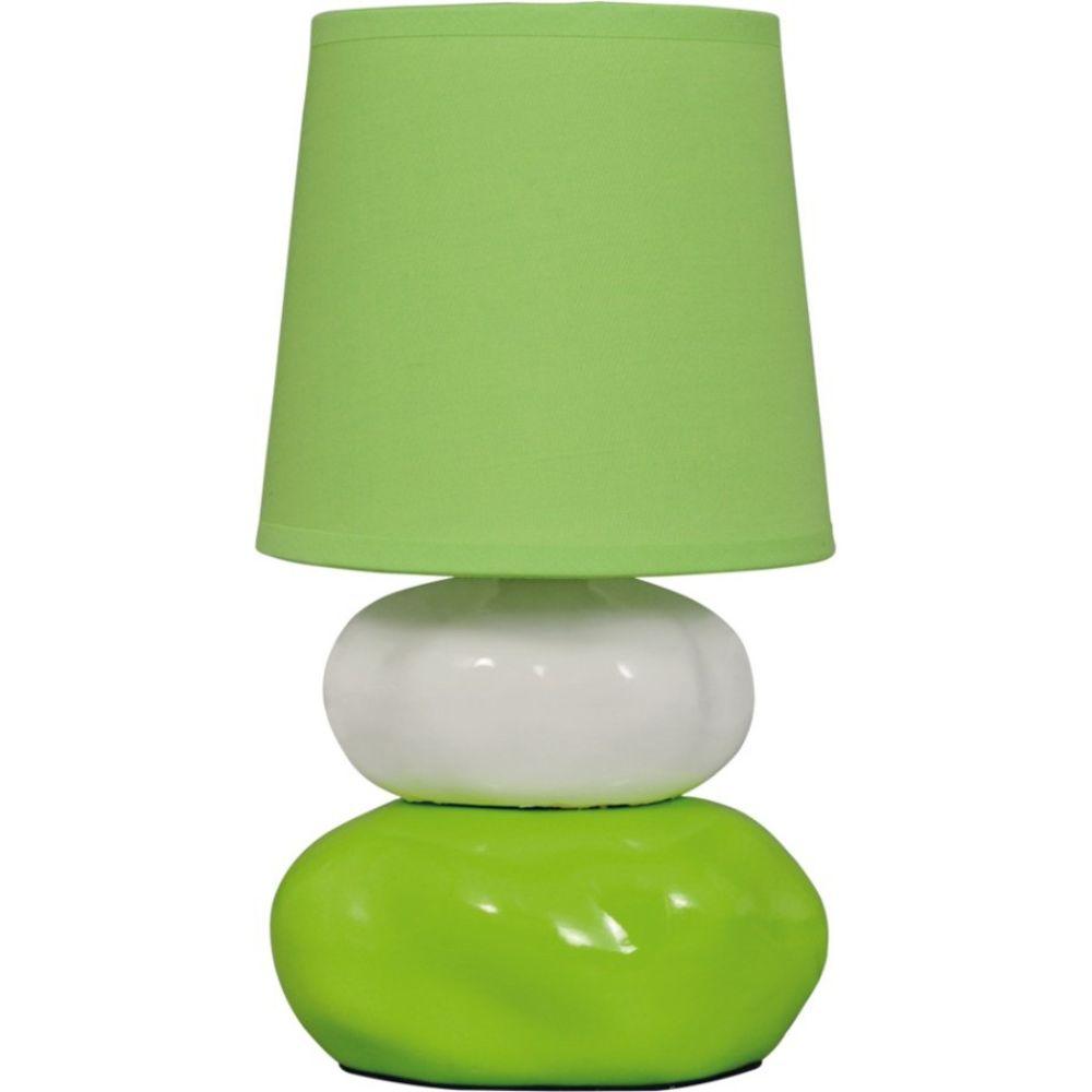 Veioza Omar KL 0500, ceramica verde, textil, 1 x E14, 250 mm imagine 2021 mathaus
