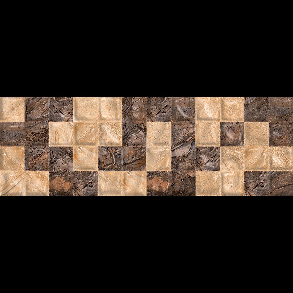 Faianta decorativa Art Ceramic Nevada Pure Carmy maro-bej, model geometric, 20 x 60 cm