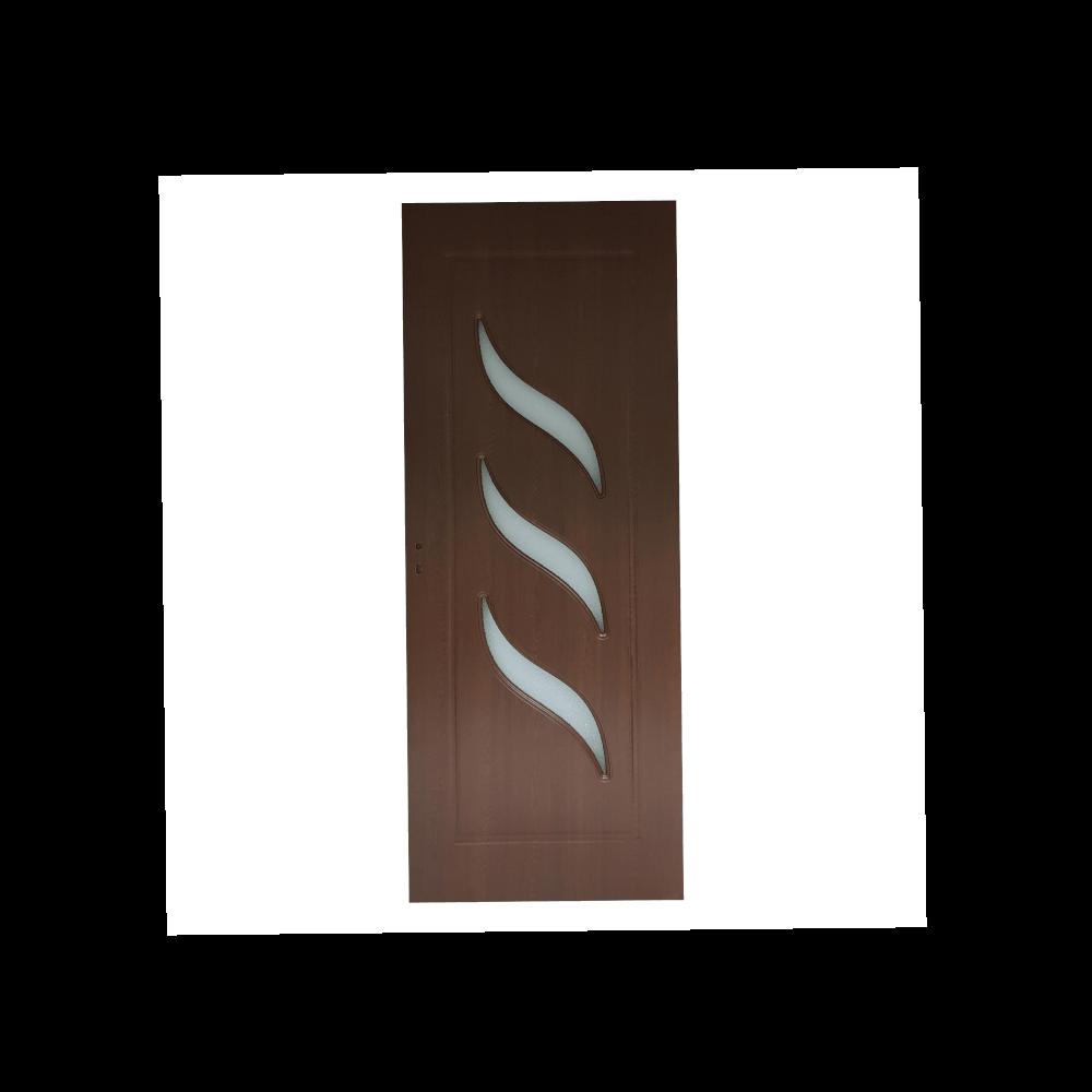 Usa interior cu geam Pamate M02, stejar auriu, 203 x 70 x 3,5 cm + toc 10 cm, reversibila
