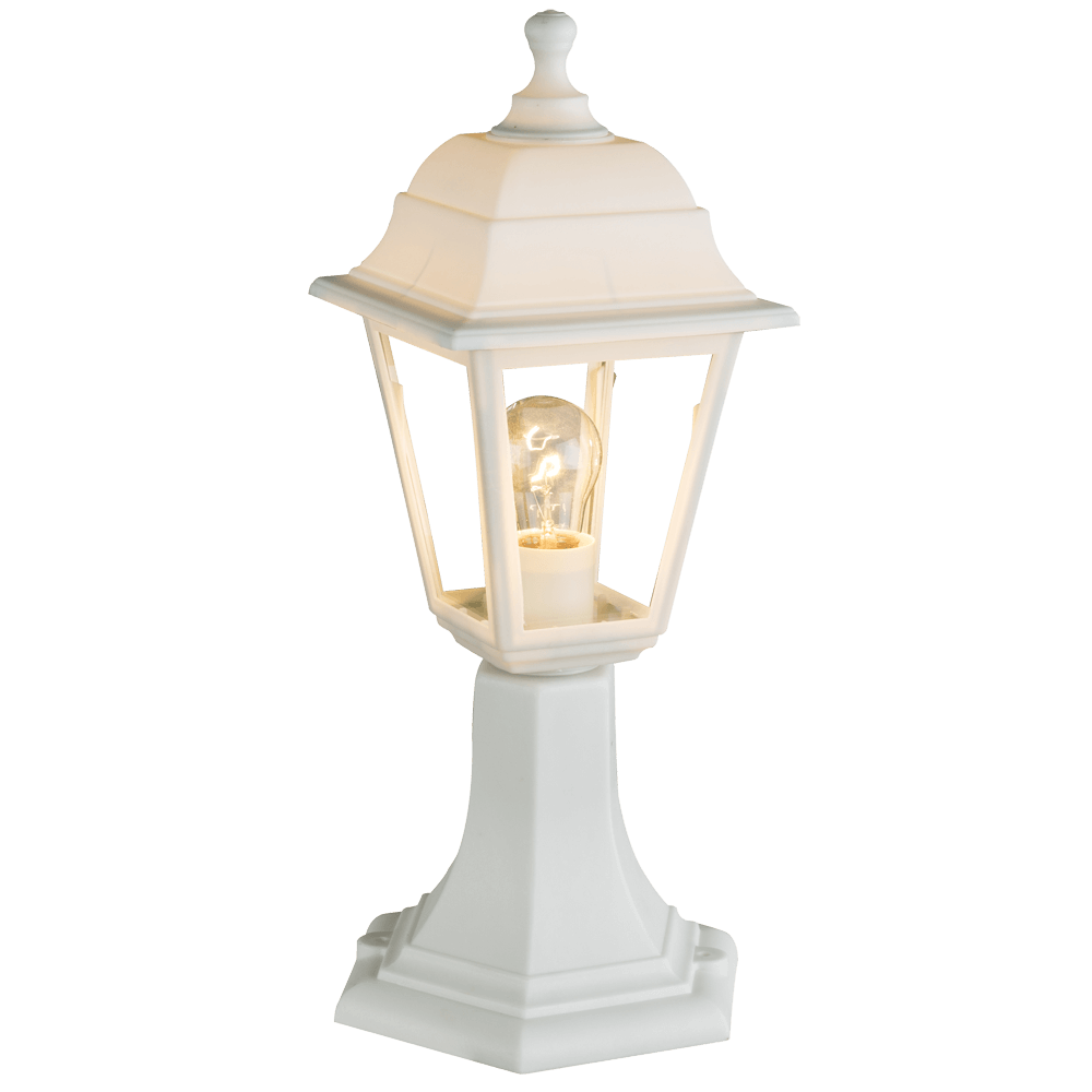 Stalp pentru iluminat exterior Luca, 1 x E27, 60 W, alb
