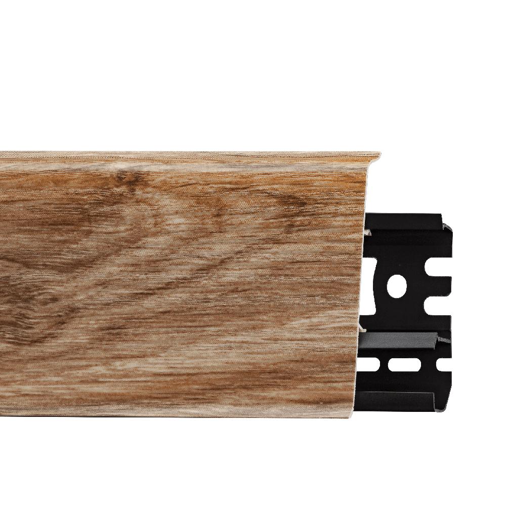 Plinta parchet, cu canal cablu, PVC, stejar laplant, INDO 70, 2500 mm imagine MatHaus