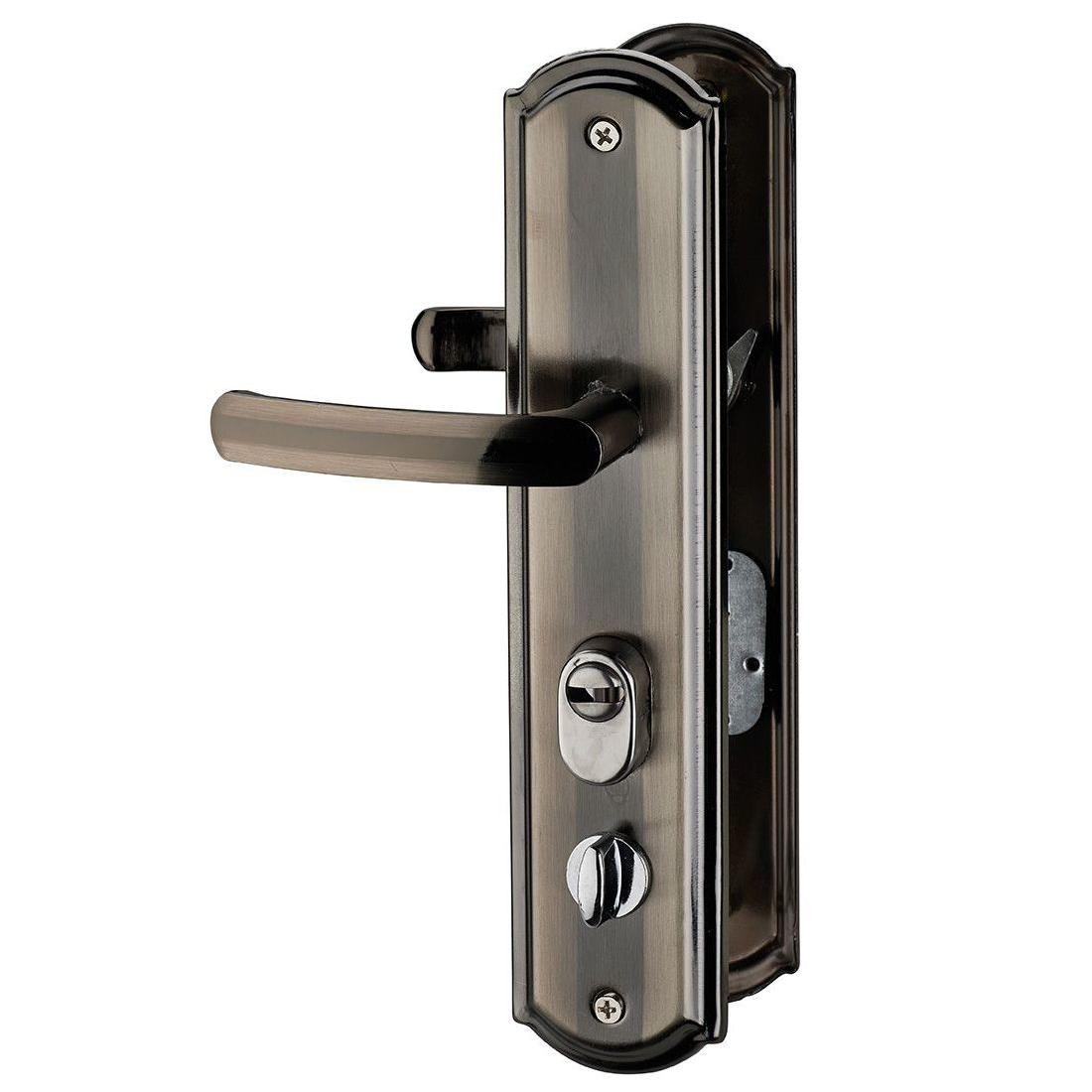 Maner cu sild pentru usa intrare, deschidere dreapta, aluminiu, argint ionizat
