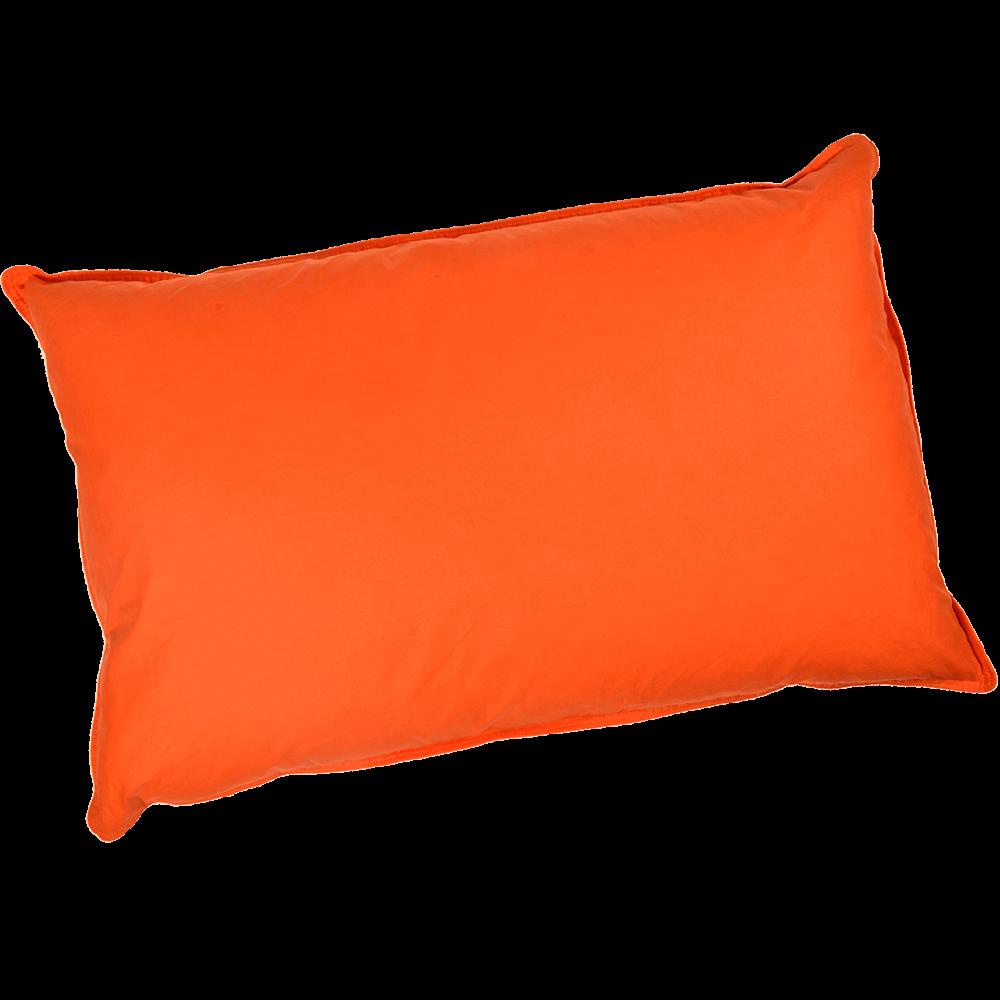 Perna cu puf de gasca, portocaliu, 50 x 70 cm imagine MatHaus.ro