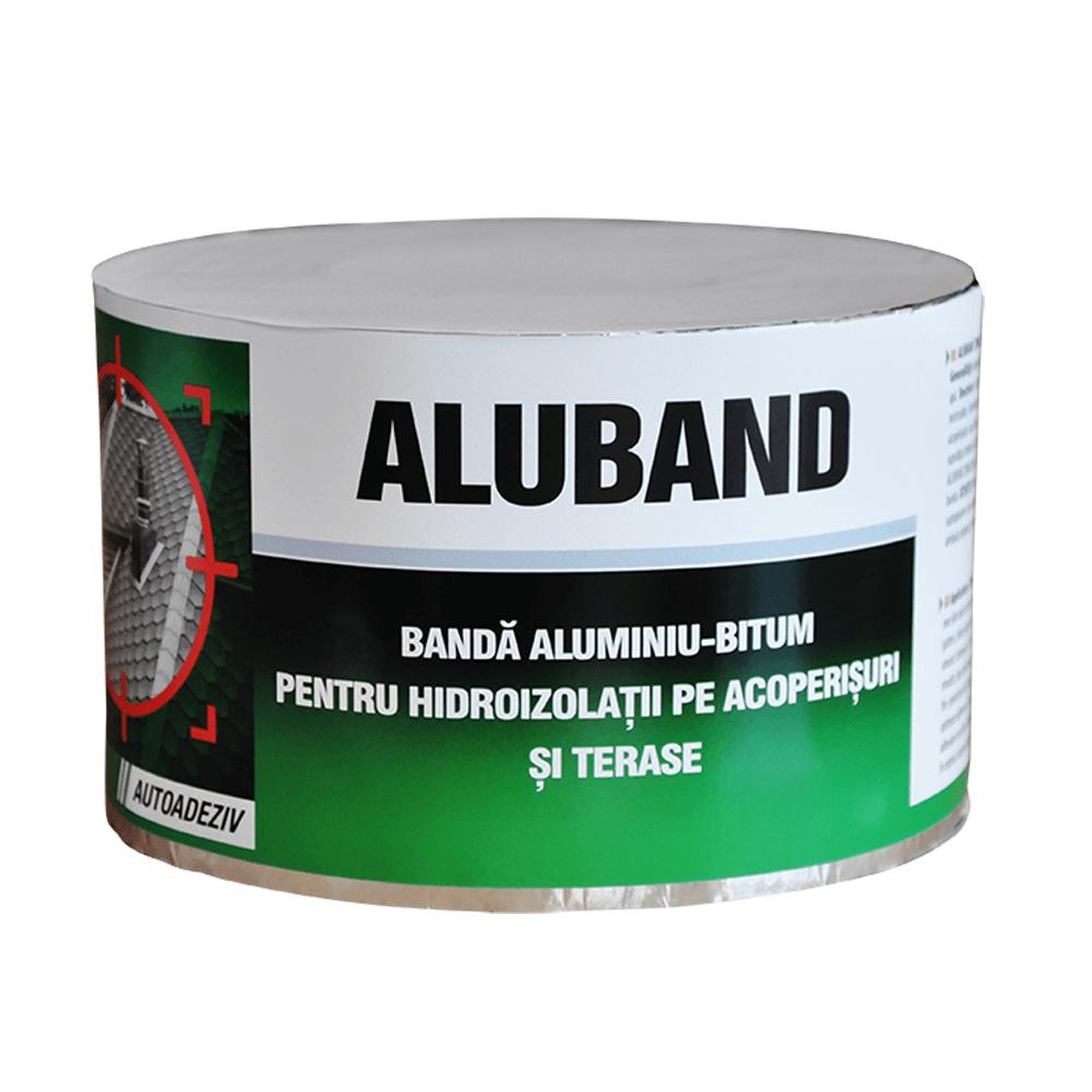 Banda bituminoasa, Alu band, pentru etansare si hidroizolare, 10 cm, 10 m/rola