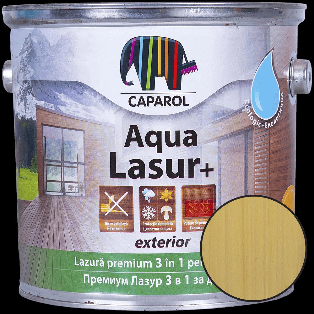 Lazura pentru lemn de exterior Caparol Aqua Lasur +, natur, 2.5 l imagine 2021 mathaus