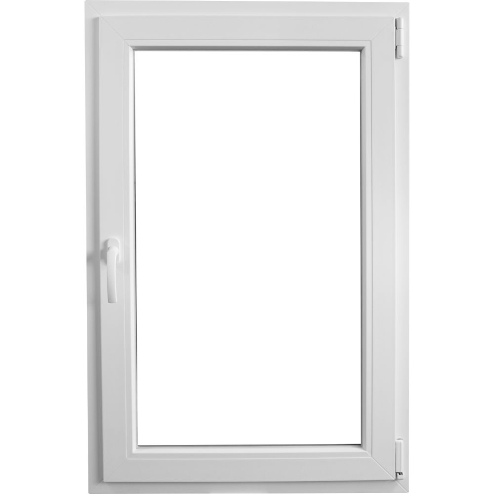 Fereastra PVC, 5 camere, alb, 76 x 136 cm imagine MatHaus.ro