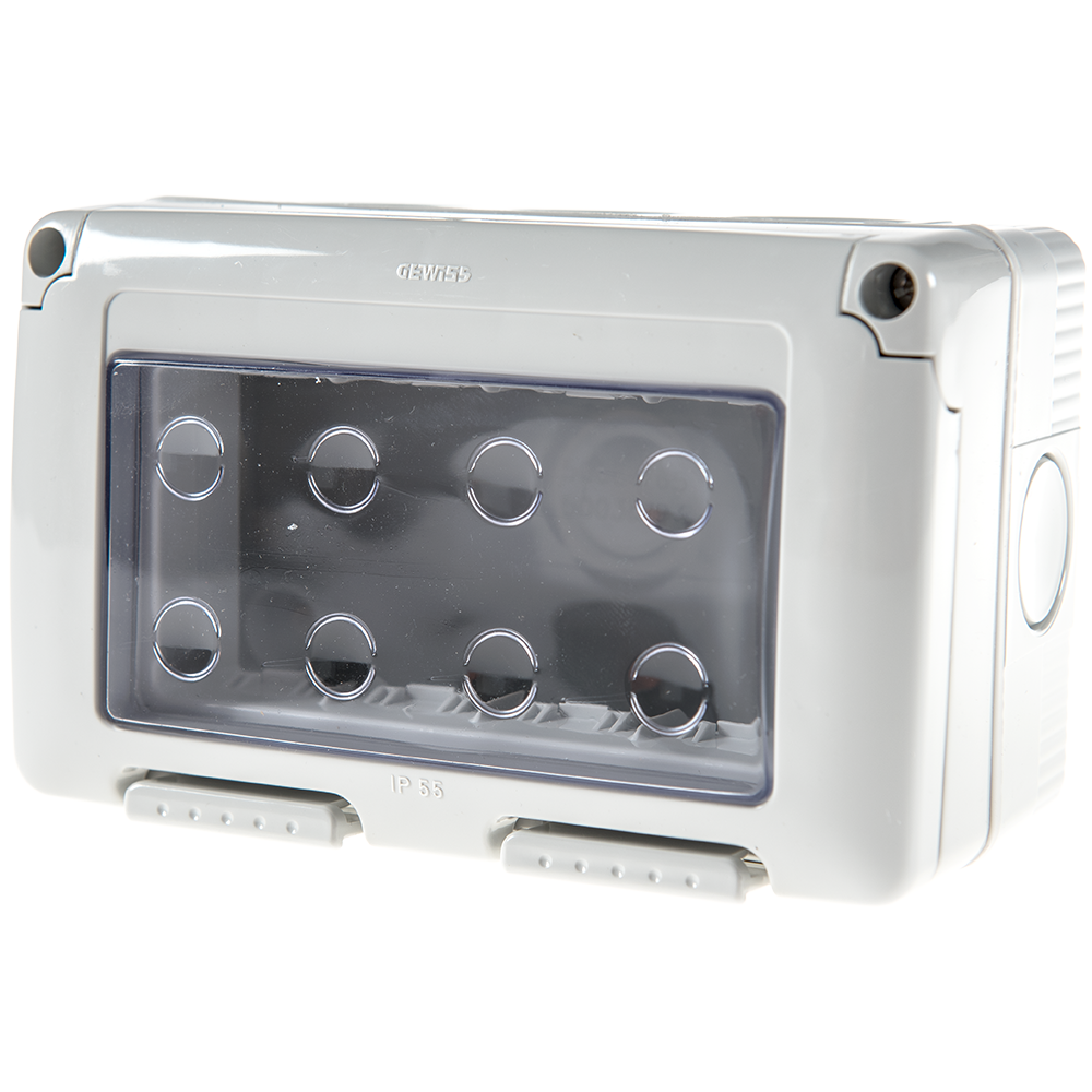 Carcasa montaj aparent Gewiss GW27044, 3 module, IP55, 132 x 82 x 65 mm imagine MatHaus.ro