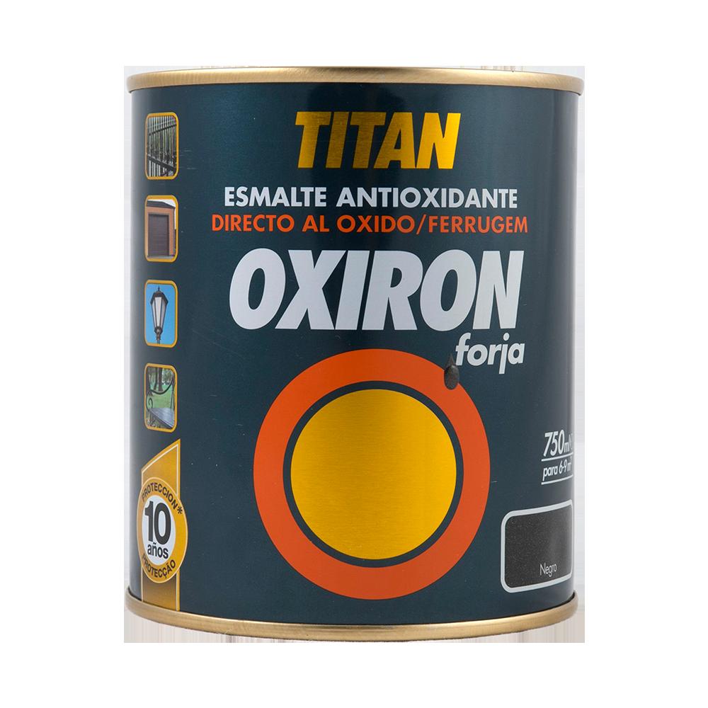 Email metal Titan Oxiron, fier forjat, negru, interior/exterior/, 0,75 l imagine MatHaus