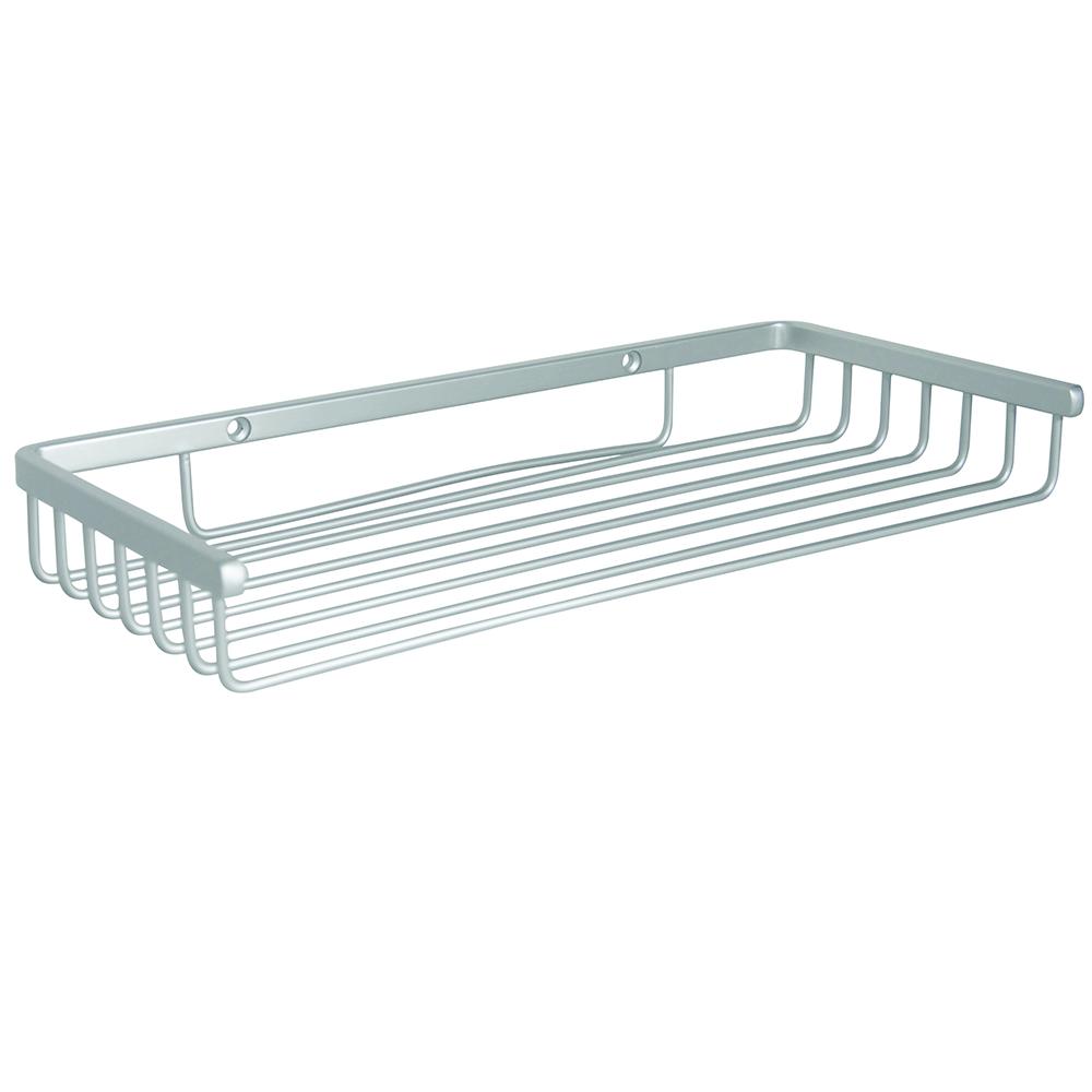 Etajera pentru baie mica Romtatay, aluminiu, argintiu, 1 raft, 32 x 15 x 4 cm mathaus 2021