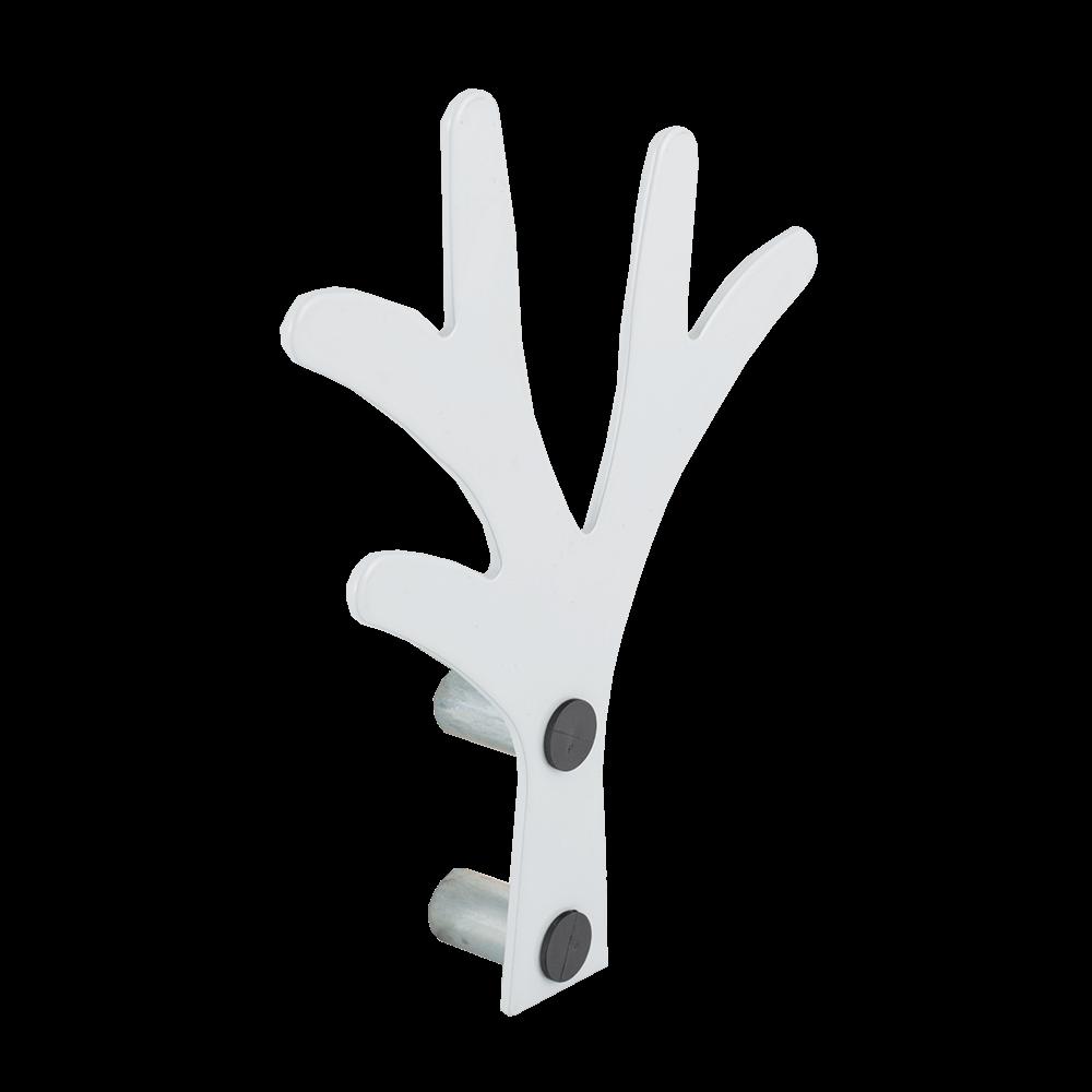 Agatator pentru haine tip copac, alb, 150 x 25 x 200 mm
