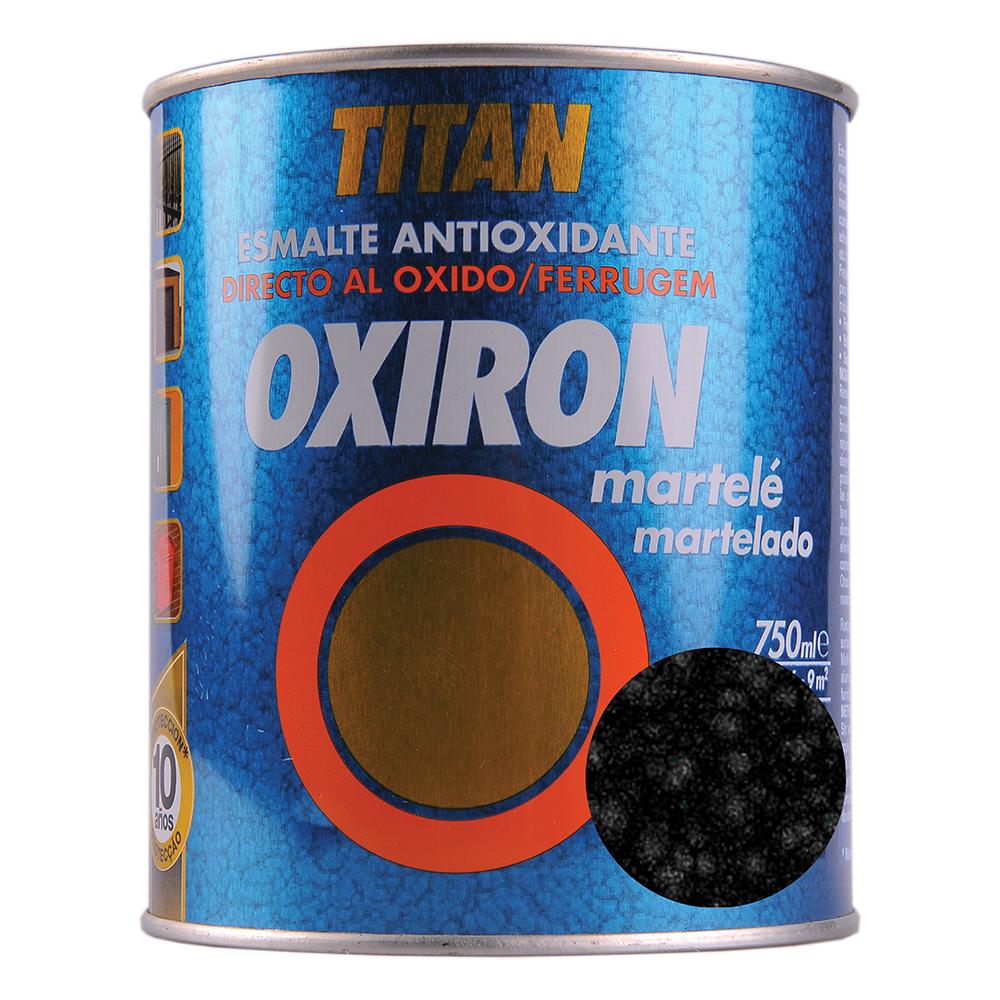 Email metal Titan Oxiron, lovitura de ciocan, negru, interior/exterior/, 0,75 l