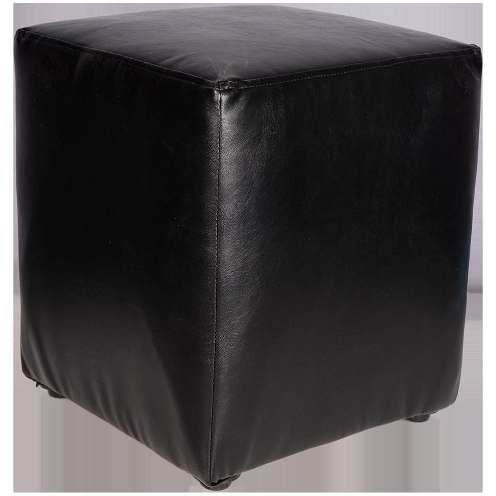 Taburet Cube tapiterie piele ecologica negru IP 21901 45x38x38 cm