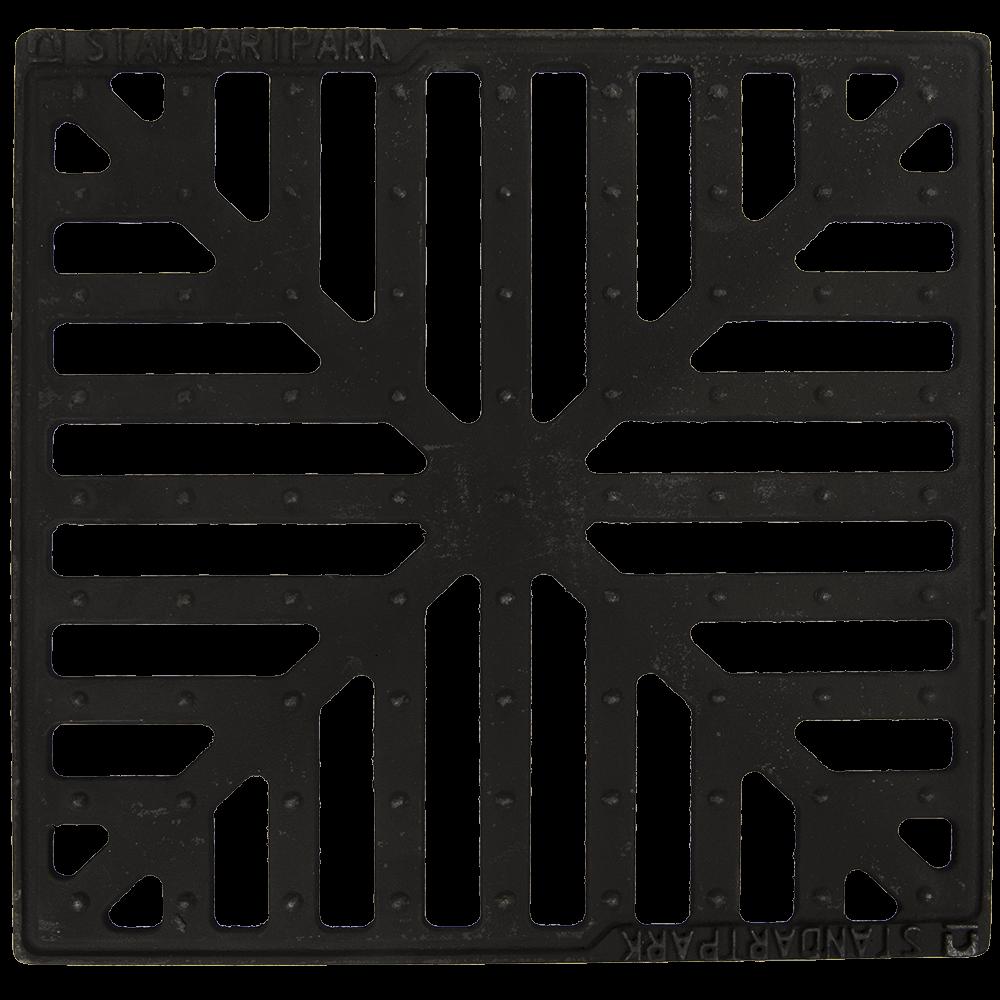 Gratar pluvial in fulga, fonta, 28 x 28 cm