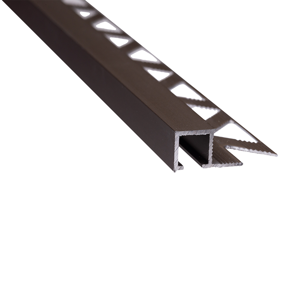 Profil de terminatie pentru parchet Set Prod S88 aluminiu, bronz, patrat, 10 mm